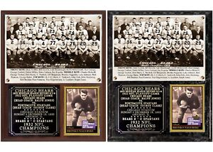 Chicago Bears 1932 NFL Champions Photo Card Plaque
