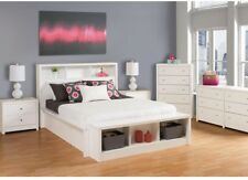 Prepac 5 Chest Drawer Storage Organizer Chrome Metal Knobs White Furniture New