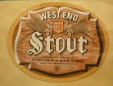 OLD AUSTRALIAN BEER LABEL, SA BREWING Co WEST END STOUT