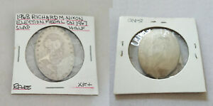 HOBO NICKEL Richard Nixon on Kennedy half dollar carved US coin 40% silver RARE