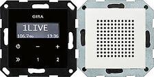 228003 Gira Unterputz-Radio RDS mit Lautsprecher Reinweiß glänzend