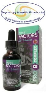 Pure Factors PRO B COMPLEX for Women 1 oz. (30ml)  w/ Velvet Antler Extract