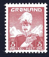 Greenland 1938 5 Ore King Christian X Mint Unhinged