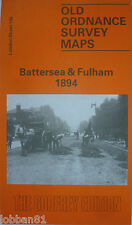 OLD ORDNANCE SURVEY DETAILED MAPS BATTERSEA & FULHAM LONDON 1894 GODFREY EDITION