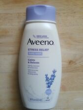 AVEENO BODY WASH STRESS RELIEF 18oz CALMS & RELAXES w/LAVENDER NEW!