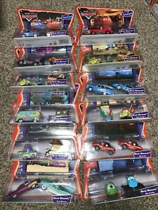 DISNEY PIXAR CARS SUPERCHARGED ALL US MOVIE MOMENTS SET OF 11 RARE!!! 1 Double