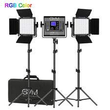 GVM RGB-800D Video Light,3 video Lights LED Camera Lights Kit With App Control