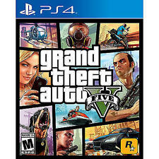 NEW Factory Sealed Grand Theft Auto V Sony PlayStation 4 2014 GTA 5 PS4 GTA5