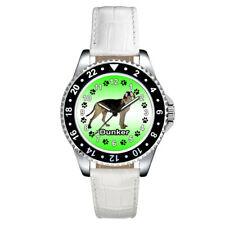 Dunker Dog Paw Casual Unisex Mens Ladies Leather Band Quartz Wrist Watch