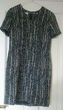 Precis Petite Black Patterned Vintage Classic Shift Dress size 12