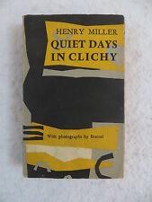 Henry Miller QUIET DAYS IN CLICHY Brassai Photographs 1956 Olympia Press 1st Ed