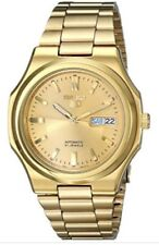 Seiko 5 Gold Stainless Steel Automatic Men's Watch SNKK52