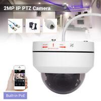 HD 1080P POE IP PTZ Camera 4X Zoom Onvif Security Night Vision Waterproof Mini