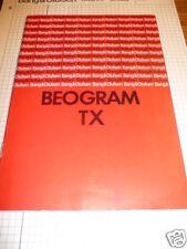 Mode d'emploi Bang&Olufsen Beogram TX Turn Table ORIGIN