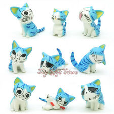 9 pcs Lovely Chi's Sweet Home Cat FIGURES Blue