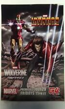 G4 IRON MAN & WOLVERINE ANIME TV SHOW SDCC EXCLUSIVE PROMO POSTER MARVEL