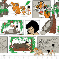 Fat Quarter Disney Classic Jungle Book Comic Strip 100% Cotton Quilting Fabric