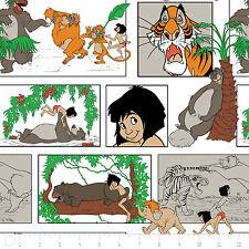 Cuarto gordo Disney Classic Selva Libro Historieta 100% algodón Quilting fabric