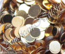 1 boite de paillettes ROND Or Doré bijoux décor pour ongle Nail Art