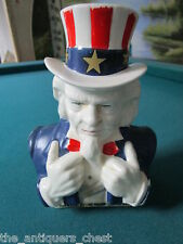 "Uncle Sam, ceramic coin bank, made in Japan, c1960s, 6 1/2"" tall [4-17]"