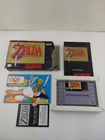 Authentic Legend of Zelda A Link To The Past SNES Nintendo
