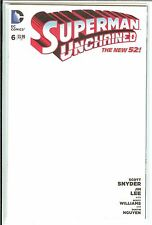 Superman Unchained #6 Blank Variant NM or better