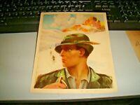 cartoncino pubblicitario S.A. MAGGIONI - ALPINO illustratore MONESTIER 1939