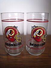 (2) Vintage Washington Redskins Glasses & (1) Pennant