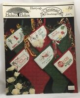 1980s Counted Cross Stitch Christmas Stockings Pattern Booklet 6 Patterns 4015F