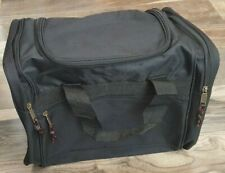"Plain Canvas Sports Travel Duffel Bag Black Size: 17"""