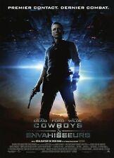 Affiche Pliée 40x60cm COWBOYS ET ENVAHISSEURS /& ALIENS (2011) Daniel Craig NEUV