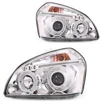 Scheinwerfer Set für Hyundai Tucson Bj. 05-10 klarglas/chrom Angel Eyes H1+H1