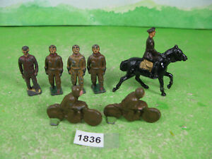 vintage mixed lead soldiers small mounted WWI figure etc collectable models 1836