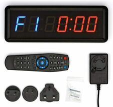 "1.5"" LED Interval Timer Gym Wall Clock Countdown For Training Fitness Crossfit"
