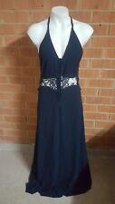 BNWT jarlo siobhan navy formal maxi dress size small 10