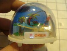 vintage 60's-70's Plastic Snow Globe Hong Kong: FLORIDA see-saw MARLIN FISHING