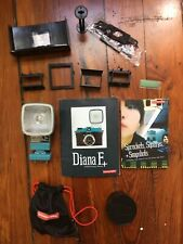 Diana F+ Camera Accessories -Flash with adapter, 20mm Fish Eye Lens, misc parts