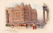 Midland Hotel Manchester Railway Advertising unused old pc