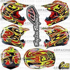 Troy Lee Designs 2016 Se3 medio Md M Casco reflexión Amarillo Motocross Enduro