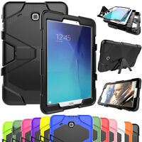 Shockproof Stand Tablet Protective Hard Case For Samsung Galaxy Tab E 8.0 / 9.6