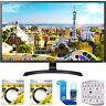 "LG 32"" 3840x2160 Ultra HD 4k LED Monitor 32UD59-B with Cleaning Bundle"