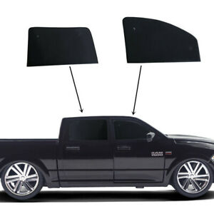 Fit For RAM 1500 Crew Cab 2019-2021 Side Window Black Privacy Cover 4pcs