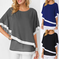 Plus Size Women Batwing Loose Tops Blouse Ladies Casual Party Pullover T-Shirt