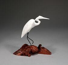 EGRET Sculpture New Direct from John Perry Pellucida Statue Figurine Decor Art