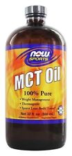 NOW Foods MCT Oil Liquid 100% Pure 32oz Add to Coffee For Added Energy 06/2019