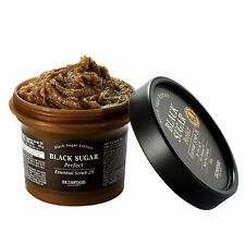 {SKINFOOD} Black Sugar Perfect Essential Scrub 2X 210g - Korea Cosmetic