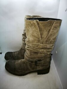 Clarks grey suede ankle boots size 5