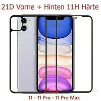 Iphone 11 Pro Max 21D Panzerfolie vorne + hinten Displayschutz 11H Echtglas 360°