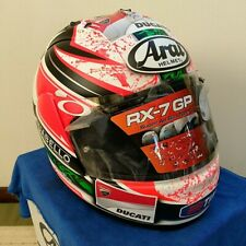 RARE!! ARAI GENUINE OEM RX-7 RR5 NICKY HAYDEN FULL FACE HELMET S SIZE WITH SIGN