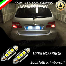 COPPIA LUCI TARGA A LED MERCEDES CLASSE B W245 SILURO C5W CANBUS NO ERROR